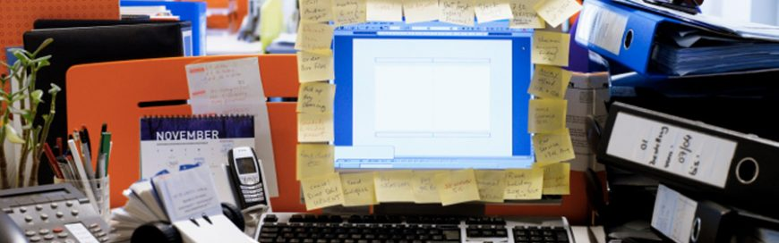 Like in physical spaces, desktops need order, too