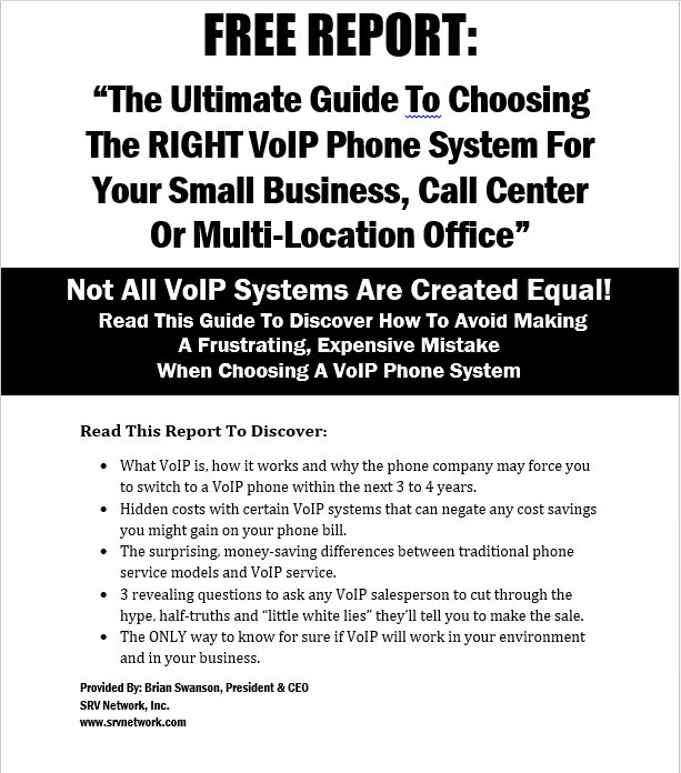 VoIP/Phone Solutions - Chicago   SRV Network, Inc