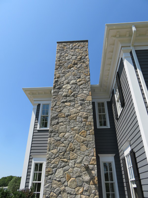 New England Mosaic Chimney