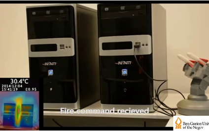 Hack air-gapped computers using heat