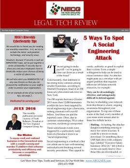 Newsletter - July 2016