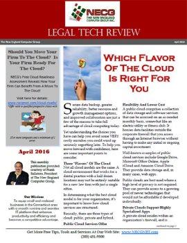 Newsletter - April 2016