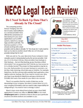 Newsletter - May 2015