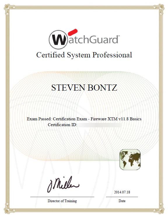 WatchGuard-Certified-Professional-Steven-Bontz