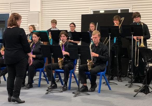 Stage Band in full flight