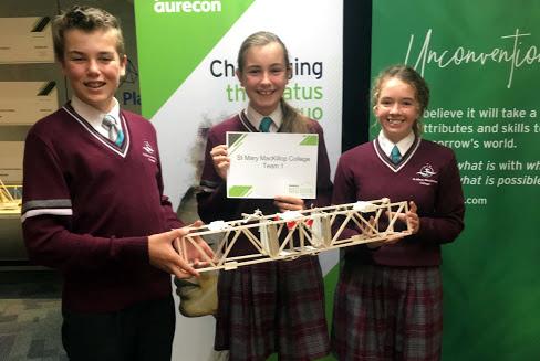 Year 9 students build bridges at Scitech (1)