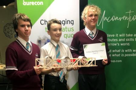 Year 9 students build bridges at Scitech (2)