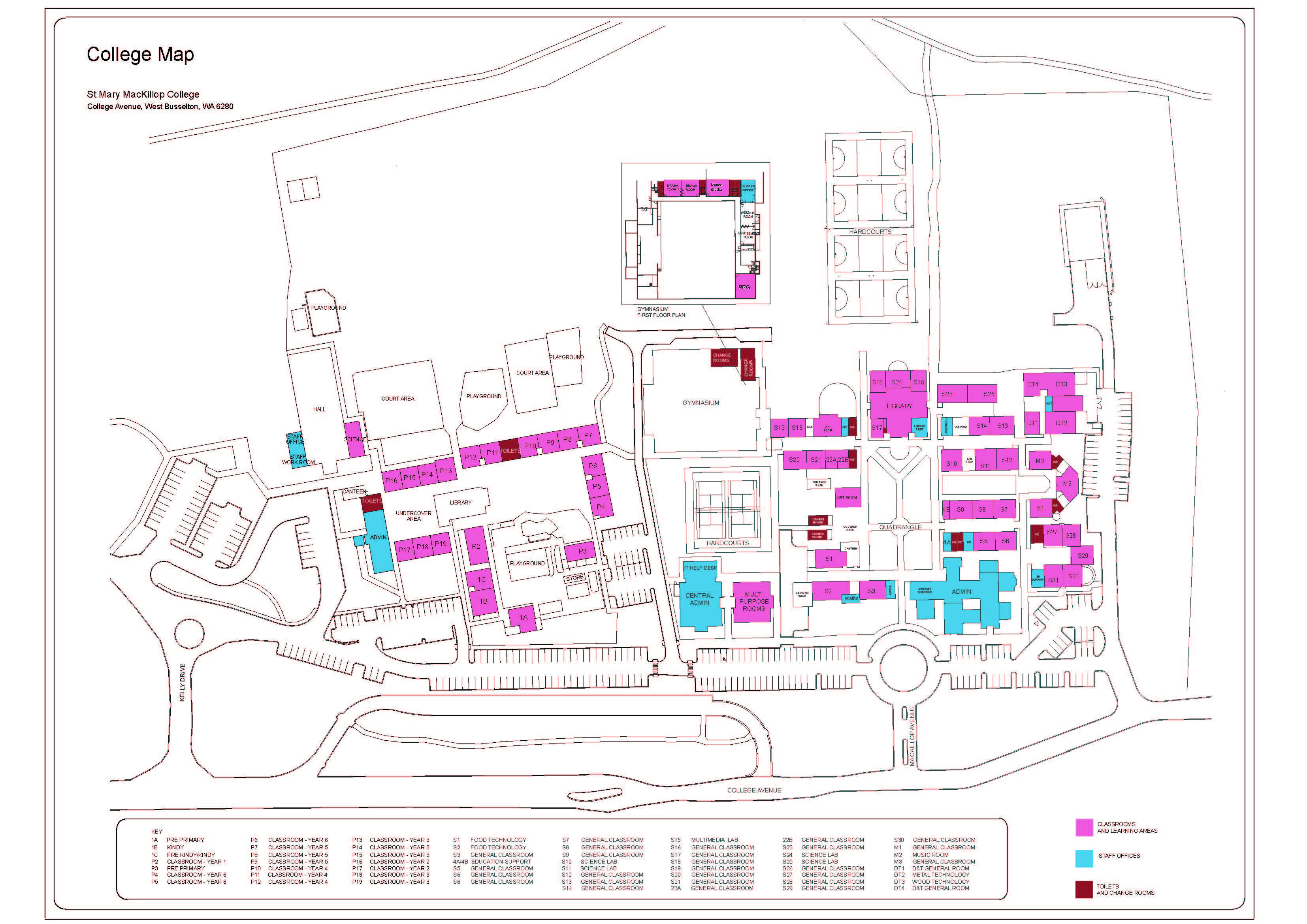 Campus Map St Mary Mackillop College