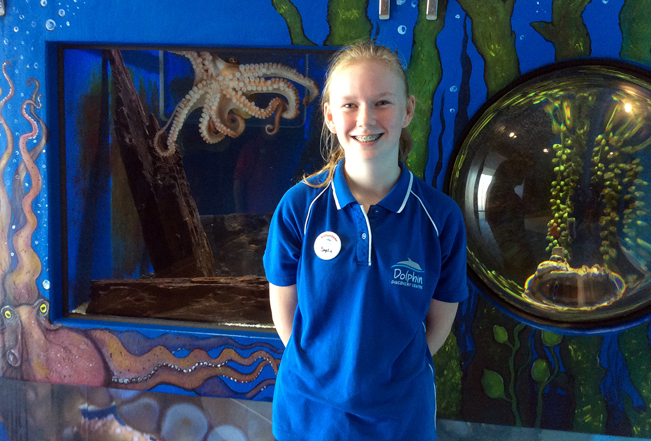 Sophie@Dolphin Discovery Centre Bunbury