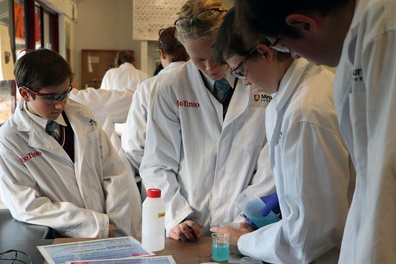 Murdoch University's 'Metal Men' inspire STEM careers (5)