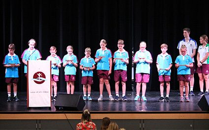 Whole School Assembly: Primary Leaders and Year 12 badges