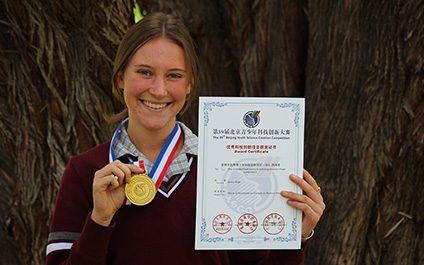 Science student wins Gold in Beijing