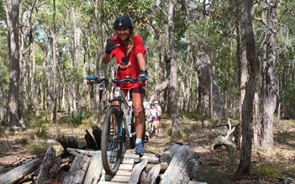 Year 10s take new mountain-bikes to 'Secret Whicher'