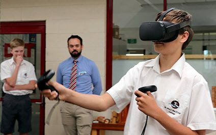 Virtual Reality a hit with Digital Technology students