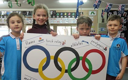 Primary classes are getting into the Olympic Spirit