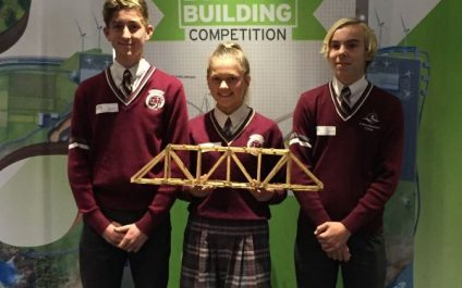 Year 9 students building bridges in Perth