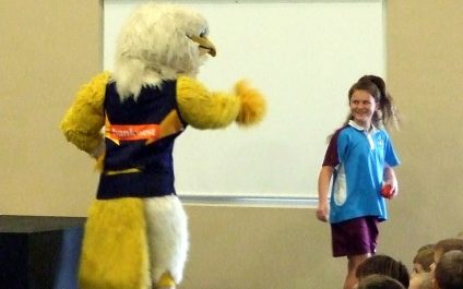 'Eagles Rock My School' visit