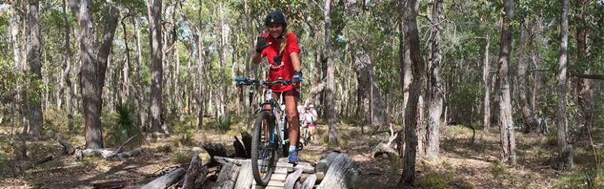 Year 10s take new mountain-bikes to 'Secret Whicher'