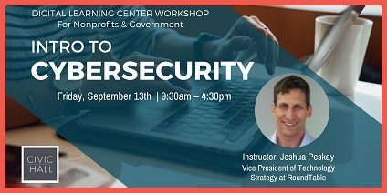 Past Event—In-Person Training at Civic Hall in New York City—Intro to Cybersecurity
