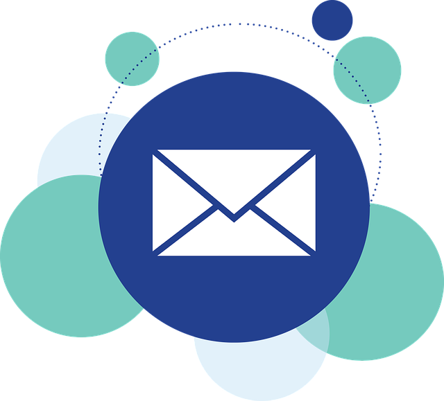 Email envelope icon inside circle