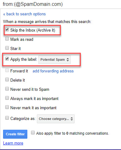 Gmail-Potential-Spam-Label-Filter