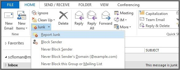 Junk Mail Ribbon
