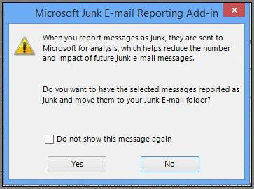 Outlook Report Junk
