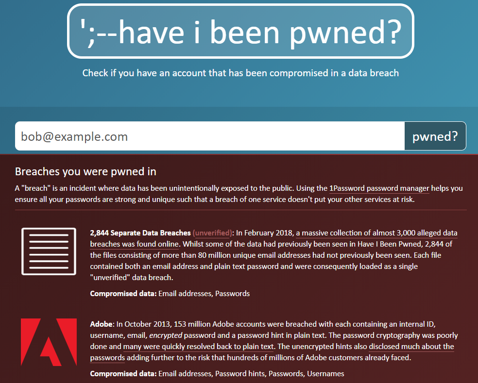 havebeenpwned