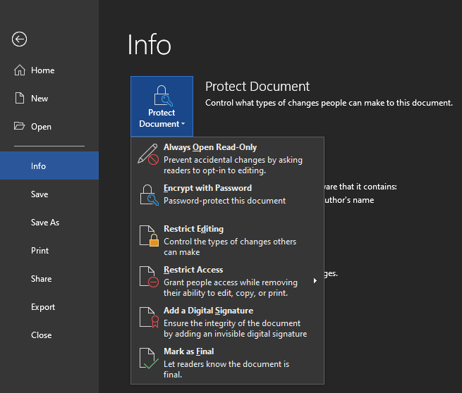 Word-Protect-Document