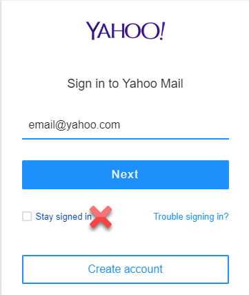 Yahoo Mail Stay Signed In