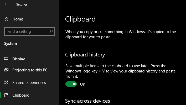Windows-10-Enable-Clipboard-History