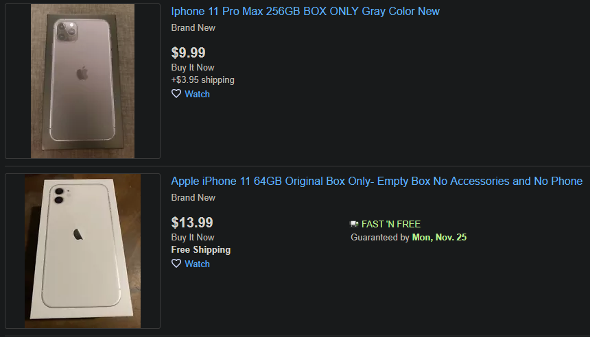 eBay-Box-Only