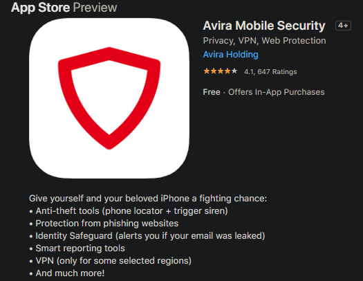 iPhone-Avira-App