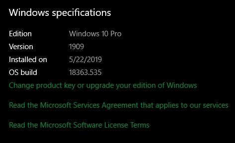 Windows-Specs