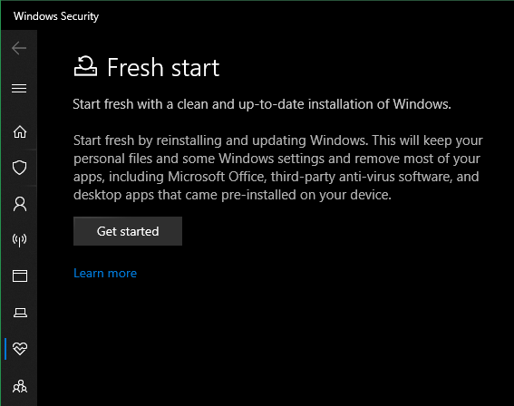 Fresh-Start-Windows-Options