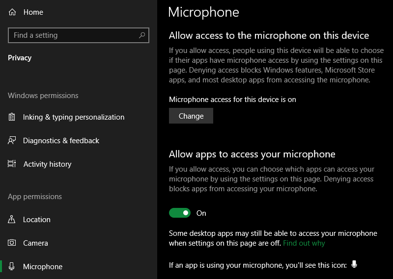 Windows-10-Microphone-Access