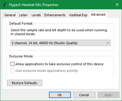 Windows-Mic-Advanced-Exclusive-Options