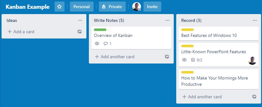 Kanban-Example-Board