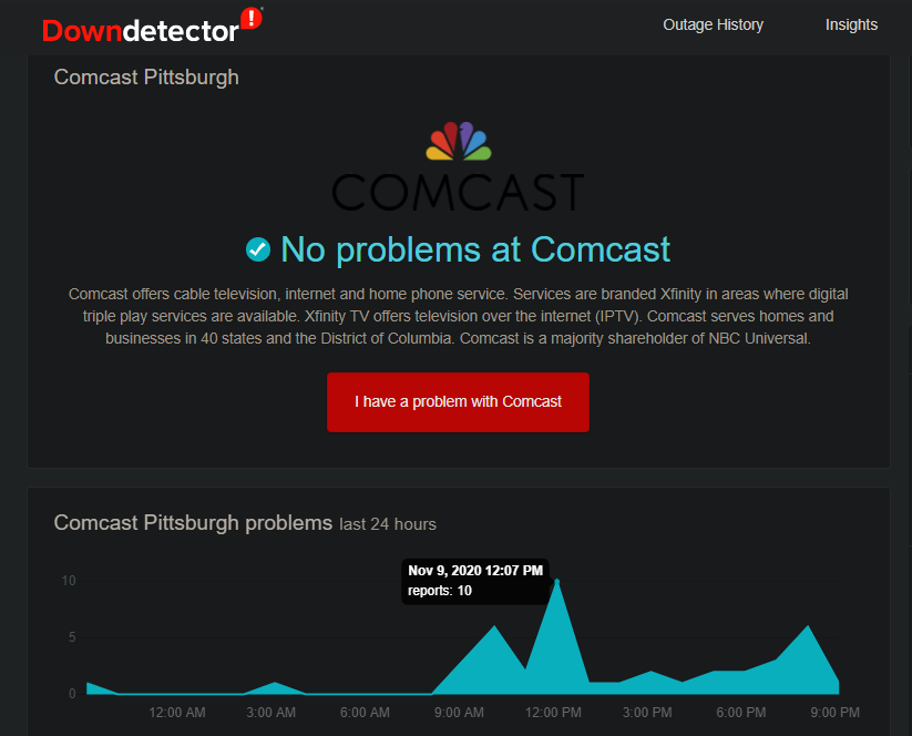 Down-Detector-Comcast