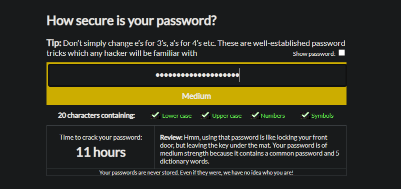 Password-Strength-Checker