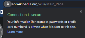 Secure-Website-Message-Chrome