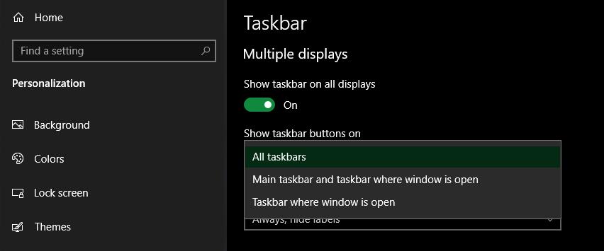 Windows-10-Multiple-Display-Taskbar-Options