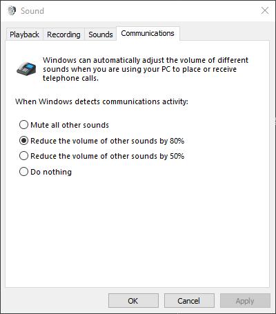 Windows-Sound-Communications