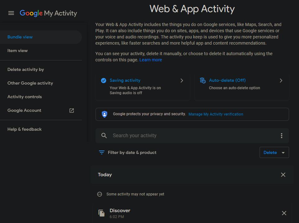 Google-Web-Activity