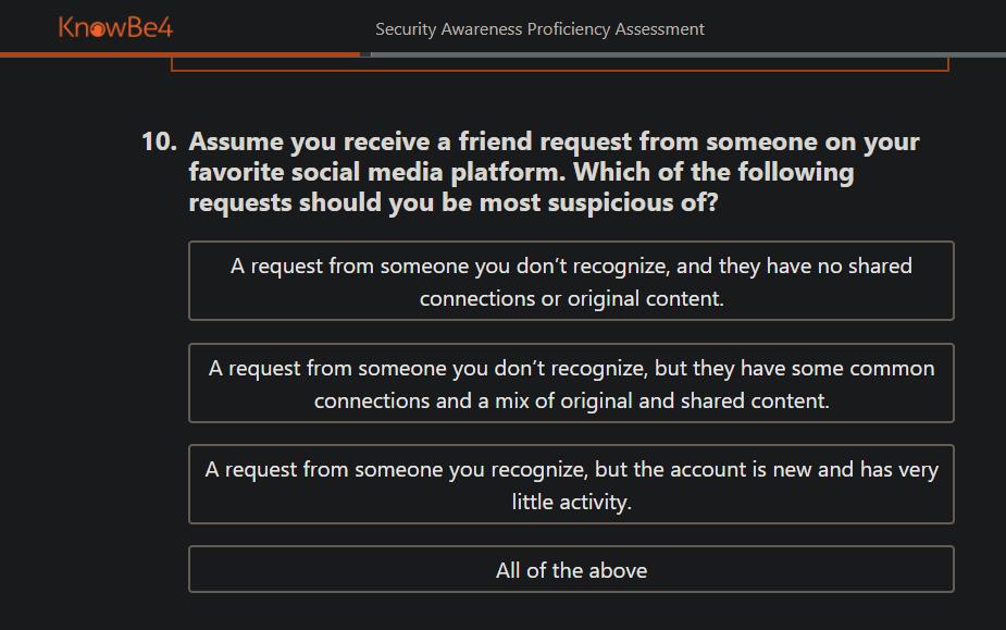 KnowBe4-Security-Assessment-Quiz