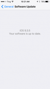iOS Software Update Screen
