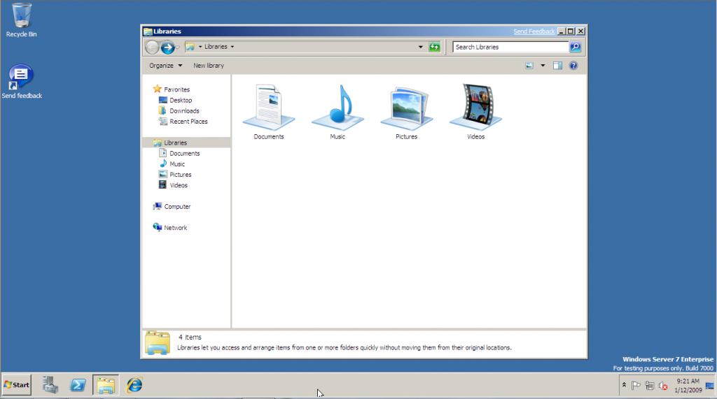Windows Server 2008 R2 Screenshot