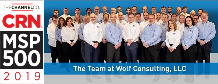 CRN Managed Service Provider (MSP) 500 List 2019 - Wolf Consulting team