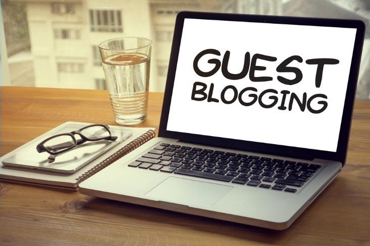 Guest Blogging on a laptop