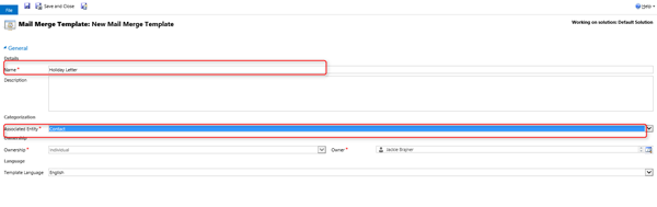 Microsoft Dynamics Crm Creating Mail Merge Templates Part 1